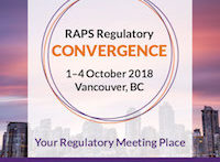 The Regulatory Convergence: 2018 RAPS, 1 - 4 October